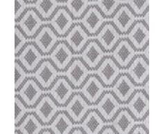 URBANARA 240x265 cm Tagesdecke/Plaid Viana Grau/Weiß — 100% Reine Baumwolle — Ideal als Bettüberwurf oder Kuscheldecke — im Diamantmuster — geeignet für Einzel- und Doppelbett