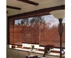Bambusrollo 70 x 220cm, dunkelbraun - Fenster Sichtschutzrollo - VICTORIA M