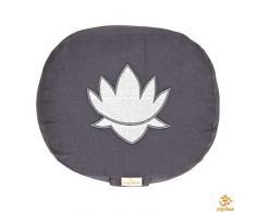 Yogakissen oval Lotus Stick Basic, grau