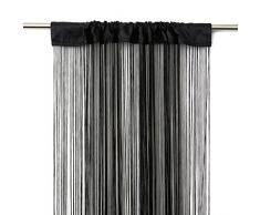 Victoria M Leonora Vorhang - Fadenvorhang 100 x 245cm, schwarz