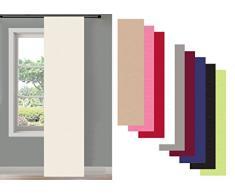 Schiebegardine Flächenvorhang Wildseide Optik Vorhang Gardine , 245x60 cm (Höhe x Breite) , Weiß, 85620