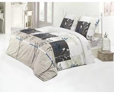 3 tlg. Bettwäsche 200x220 Baumwolle Renforce Bettgarnitur mit Reißverschluss L-X7705