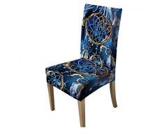 VYEKL Stuhlbezug Blue Spandex Anti-Dirty Schonbezug Restaurant Sitzbezug Stretchbezug Sofa Throw Stuhlbezug 4 STK