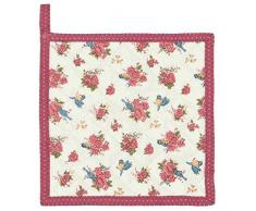 Clayre & Eef RAB45 Rose and Bird 1 Topflappen ca. 20 x 20 cm