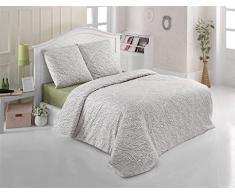 Bettwäsche 200x200 Baumwolle Bettgarnitur mit Reißverschluss 3 teilig L-A7589