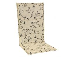 greemotion Sesselauflage hoch Saragossa, Mehrfarbig, ca. 118 x 50 x 6 cm, 411505