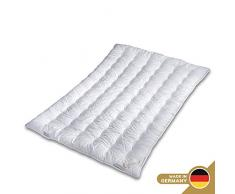 Schlafmond Märchenweich Naturfaser Ganzjahresdecke 220 x 240 cm, luftdurchlässige Bettdecke, Steppdecke aus Klimafaser, waschbar bis 60 Grad, Made in Germany