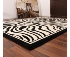 Lalee 347173099 Moderner Designer Teppich / Muster : Zebra Fell Optik / Schwarz Weiss / Grösse: 60 x 110 cm