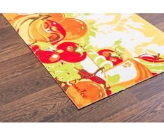 Doortex FR4KR2030SS Küchenläufer / Schmutzfangmatte, 50 x 75 cm, aus Nylonfasern auf Vinylrücken, Motiv: Gemüse - kurz, rechteckig, für den Innenbereich