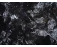 Echte Pelzdecke Felldecke Tagesdecke schwarz 160x200cm PD-100