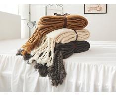 Snug Decke Special Edition Luxus Sherpa Strick Kaschmir Decke Überwurf, weich, geeignet für Stuhl oder Bett, maschinenwaschbar ideal Textiles 130 x 170 cm, khaki