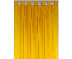 Wirth AustralienSch350-3 Vorhang Australien Schlaufenschal, 225 x 135 cm, Einzelgardine, gelb