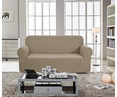 E EBETA Elastisch Sofa Überwürfe Sofabezug, Stretch Sofahusse Sofa Abdeckung Hussen für Sofa, Couch, Sessel 2 Sitzer (Sand, 145-185 cm)