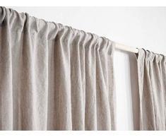 Leinen Vorhänge, Vorhänge weich und natürlich