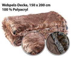 Wilson Gabor Felldecke: Hochwertige Pelzimitat-Decke in Zobelfell-Optik, 200 x 150 cm (Pelzimitatdecke)