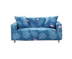 PICTURESQUE Bunter Sofabezug Elastische Sofahusse Sessel Sofa Abdeckung Überzug,C,2 Sitzer