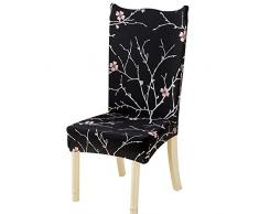 NIBESSER 4er/6er Set Stuhlhussen Stretch Stuhlbezug elastische Moderne Husse Dekoration Stuhlüberzug für Universelle Passform (B, 4er Set)