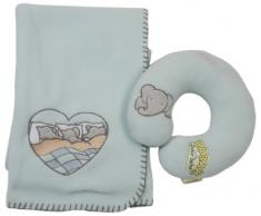 Babar 600224 Fleece Decke mit Kopfstütze Babar/Pom Thema