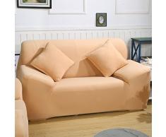Sofa Überwürfe Sofabezug stretch elastische Sofahusse Sofa Abdeckung in verschiedene Größe und Farbe (2 Sitzer für Sofalänge 140-185cm, Khaki)