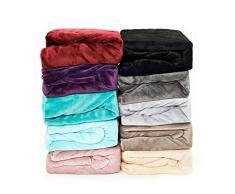 Malika® kuschelige Cashmere-Touch Spannbettlaken Jersey Fleece Spannbetttuch Bett, Kinderbett Couch Flauschiges Laken Tagesdecke, (CREME,180x200-200x200 cm)