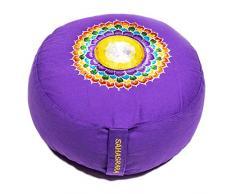 Yogakissen Glückssitz Chakra Classic, violett / 7. Chakra Kronen-Chakra (Sahasrara)