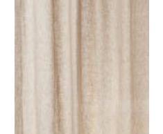 URBANARA Vorhang Cuyabeno – 100% reines Leinen, Beige mit Schlaufen – 140 x 245 cm, einzelner Schal/Gardine/ Leinenvorhang/Leinengardine