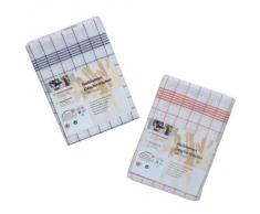 Oxid7 Halbleinen Geschirrtücher, Geschirrtuch, Küchentuch, Abtrocktuch 10er Pack 50 x 70 cm Karo kochfest bis 60° C - 10 Stück