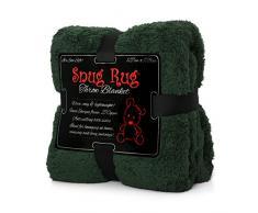 Snug Rug Kuscheldecke Decke Fleecedecke - Original Luxury Sherpa Werfen Warm Fleece (Grün)