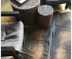 Amaris Elements   Denver Fell-Teppich, Kuhfell , beige / cognac / weiß, echtes Naturfell
