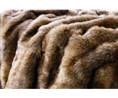 Wohnen & Accessoires Felldecke als Kuscheldecke und Tagesdecke aus Fellimitat Otter, auch als Kissen und Wärmflasche (Fell-Wärmflasche 25x35cm)