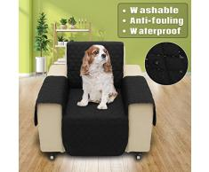 SAFETYON Sofa Bezug Haustier Wasserfest Sesselschoner Sesselauflage Hundedecke Sofa Matte für Hunde/Katzen Schwarz