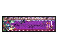 Küchenläufer / Küchenmatte / Küchen Läufer / Dekoläufer für Küche und Bar / Der Hingucker in Ihrer Küche / Ihre Gäste werden staunen / waschbare Küchenläufer / Küchendeko Modell ,,COOK & WASH Bon Appetit - lila Größe