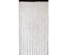 Deichflausen Fadenstore, 100 x 200 cm, schwarz mit Perlen, Fadengardine, Fadenvorhang, Raumteiler, Gardinen