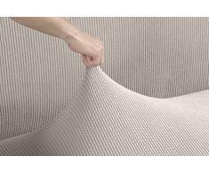 Tural - Beige Elastischer Sofabezug 1 Sitzer (Sessel Größe) (70-100cm) Valeta. Sofa-Überwürfe Sesselbezug Sesselhusse Sofaüberwurf. Erhältlich in verschiedenen Farben und Größen.