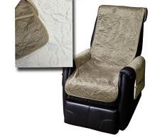 JEMIDI Lammflor Sesselschoner Sesselauflage Überwurf Sesselüberwurf Sesselbezug Polster (Schlamm)
