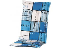 Madison 6 x 8 cm Hochlehner Auflage A 033 Tom Blue, blau kariert, 120 x 50 x 8 cm
