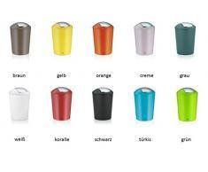 Schwingdeckeleimer Kosmetikeimer Abfalleimer Mülleimer weiß Design ABUNDIUS 5 Liter