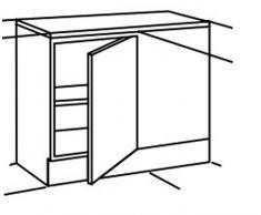 Optifit Küche UEL106-6 Eckunterschrank Unterschrank 110cm Buche