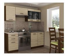 NEU Komplette Küche ALINA 180 cm verschiedene Farbkombinationen (AKAZIE TRAVISO)