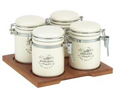 Tognana Snackschale Sweet Campania Set mit Gewürzgläsern, weiß