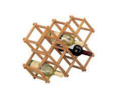 Zeller Weinregal, Bamboo / 54 x 14.5 x 38