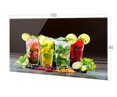 GRAZDesign Nischenrückwand Bar - Küche Glasrückwand Cocktail - Küchenrückwand Glas Cocktailbar / 100x60cm