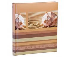 HENZO Fotoalbum Back2Nature - für bis zu 500 Fotos 10x15 - 33 x 29,5 cm HxB - 100 Seiten - blau, grau oder braun, Farbe:Braun