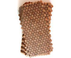 Kork Mosaik Fliesen Bodenbelag Wandbelag 30cm x 30 cm Stärke 6mm massiv Kork Platten, Indoor und Outdoor (2. Wahl)