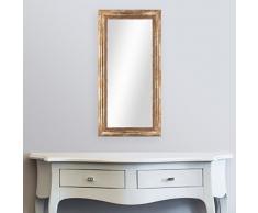 Wand-Spiegel 40x70 cm im Massivholz-Rahmen Barock-Stil Antik Gold / Spiegelfläche 30x60 cm