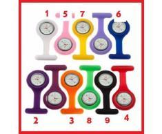 CPI Taschenuhr, Krankenschwester-Uhr, Silikon-Riemen, Brosche und Batterie