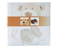 goldbuch Babyalbum, Trendbär, 30 x 31 cm, 60 weiße Blankoseiten mit 4 illustrierten Seiten und Pergamin-Trennblättern, Laminierter Kunstdruck, Beige, 15355
