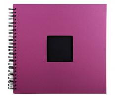 XXL Spiralalbum - Blau, Rot oder Lila - 33 x 37 cm - 50 schwarze Seiten - Fotoalbum - Album für bis zu 300 Bilder 10 x 15 cm, Farbe:Lila