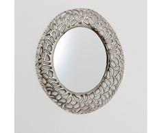 Spiegel Cavato Oval / Aluminium Vernickelt / Silber