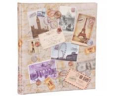 HENZO Fotoalbum City Travel - 60 Seiten - Bilderalbum - Jumboalbum - Album - Urlaubsalbum - Reisealbum